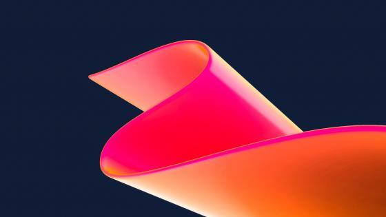 Neon ribbon wallpaper