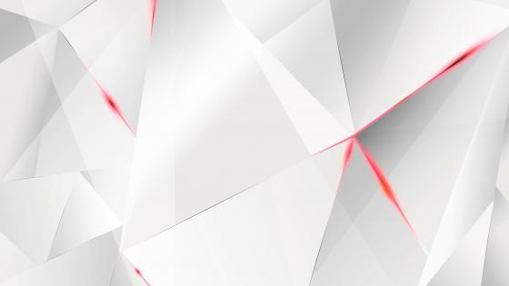 3D White and red triangles wallpaper