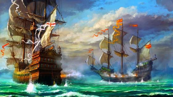 Battleships wallpaper