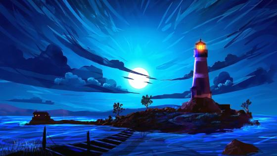 Lighthouse Digital Art wallpaper