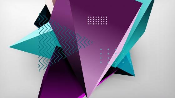 3D abstract triangles wallpaper