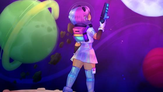 Galaxy girl wallpaper