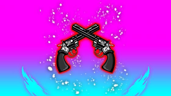 Red guns wallpaper