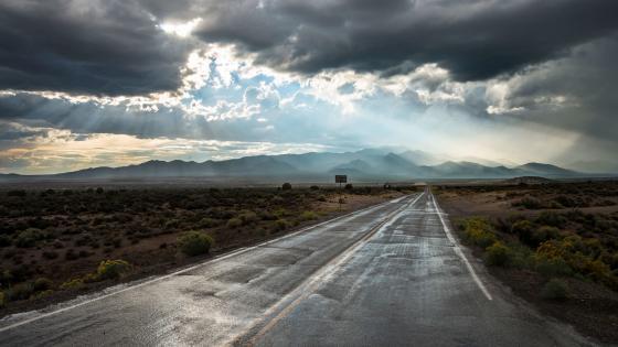 Overcast road wallpaper