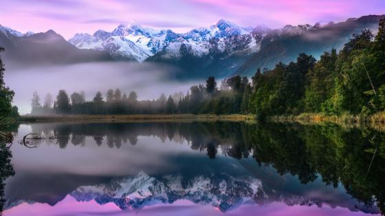 Lake Matheson, Westland Tai Poutini National Park wallpaper