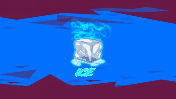 Icecube and smoke wallpaper