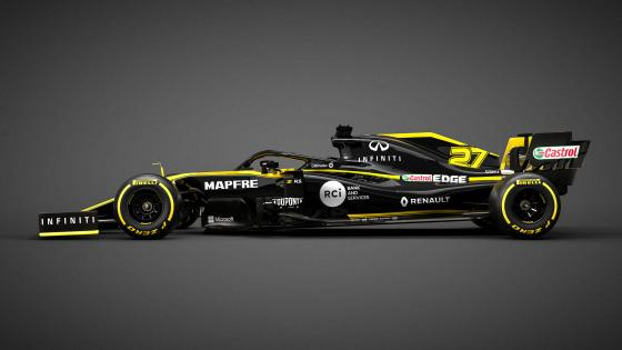 Renault F1 racing car 2019 wallpaper