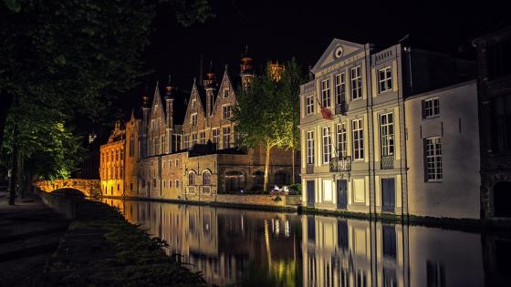 Bruges by night wallpaper