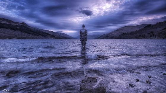 Spiritual water statue fantasy art wallpaper