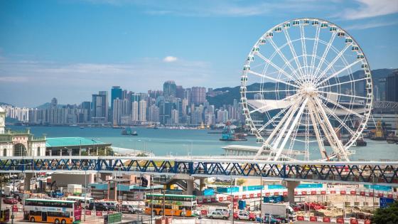 Hong Kong Ferris wheel wallpaper