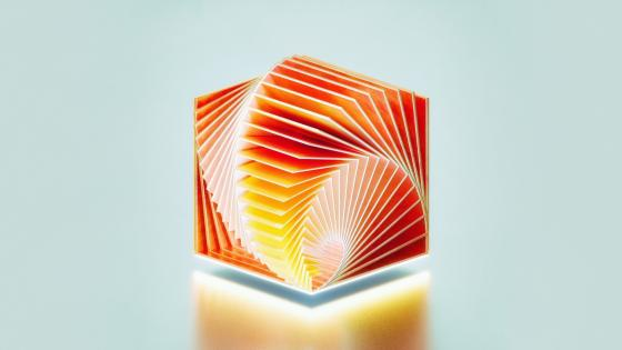 3D meditation cube wallpaper
