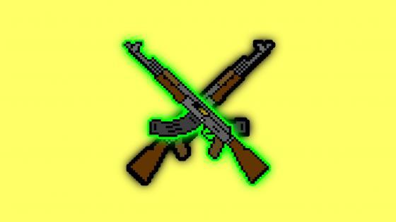 AK-47 yellow wallpaper