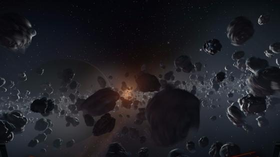 Asteroid belt wallpaper