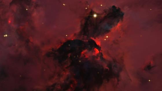 Red universe wallpaper