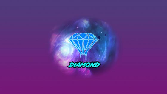 Diamond space wallpaper