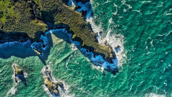 Big Sur coastline drone view wallpaper