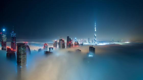 Cloudy city wallpaper