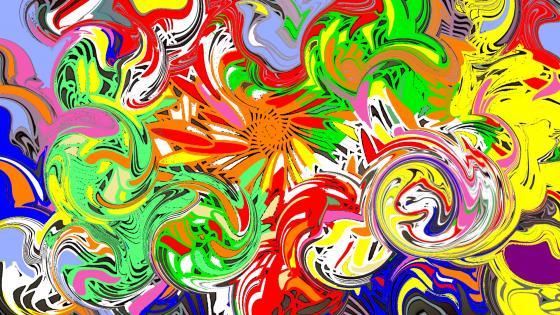 Volutes couleurs légères. 2020 wallpaper