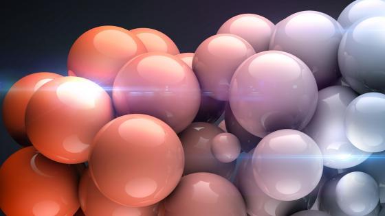 3D balls wallpaper