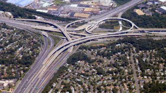 Aerial View of the Springfield Interchange wallpaper