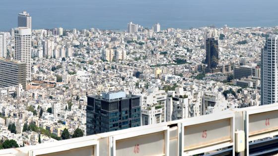 View of Tel Aviv from the Azrieli Center wallpaper