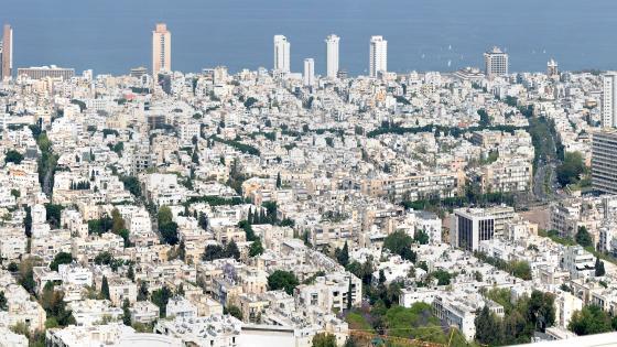 Panorama of Tel Aviv-Yafo from the Azrieli Center wallpaper