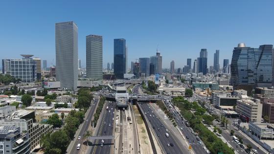 HaShalom Interchange in Tel Aviv wallpaper