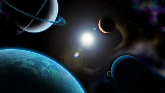 Planets space art wallpaper