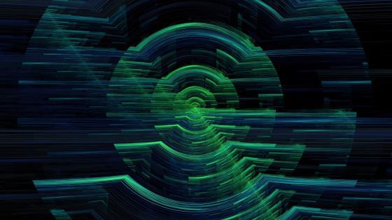 Hologram Circles wallpaper