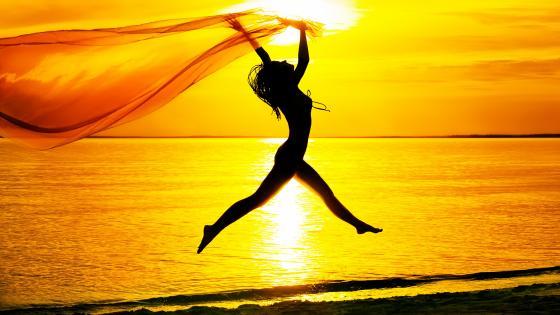 Dancer in the sunset wallpaper