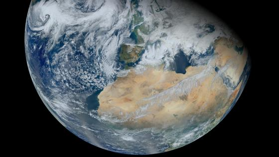 North Africa and Europe from Suomi NPP wallpaper