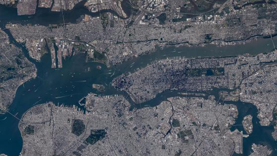 NYC from Space wallpaper