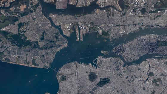 New York City Satellite Imagery wallpaper