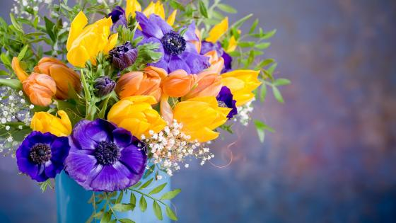 Colorful flowers wallpaper