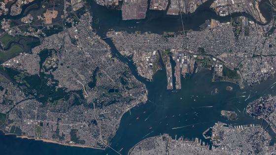 Satellite Image of Staten Island, Bayonne & Jersey City wallpaper
