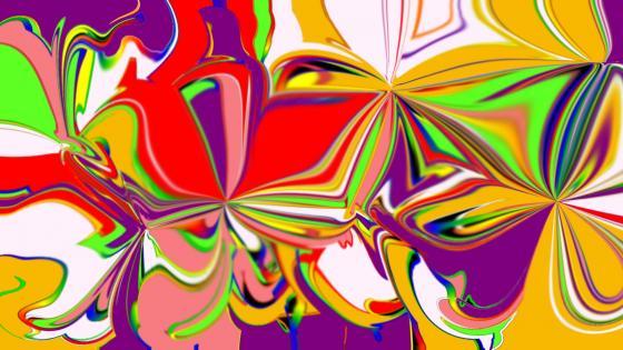 Floral swirls 2020 wallpaper