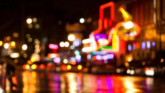 Bokeh lights of Broadway, New York wallpaper