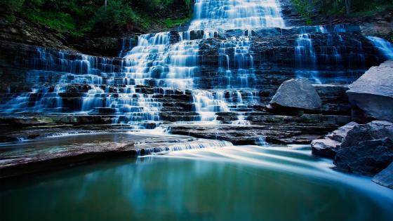 Pongour Waterfall wallpaper