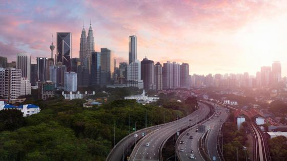 Sunset in  Downtown Kuala Lumpur wallpaper