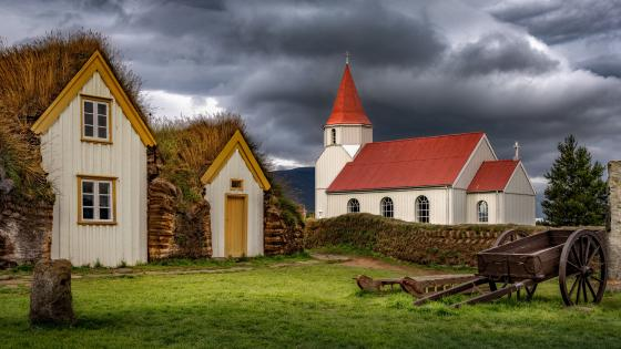 Glaumbaer Church wallpaper