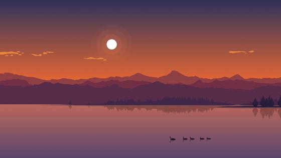 Minimal sunset wallpaper