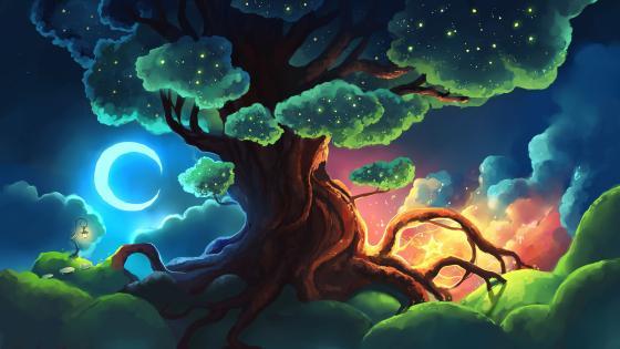 Magical tree wallpaper