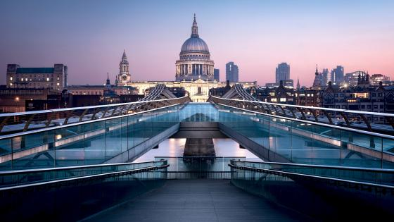 St. Paul's Cathedral and Millennium Bridge wallpaper