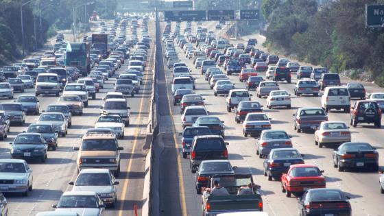 Traffic in LA wallpaper