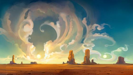 Fantasy canyon wallpaper