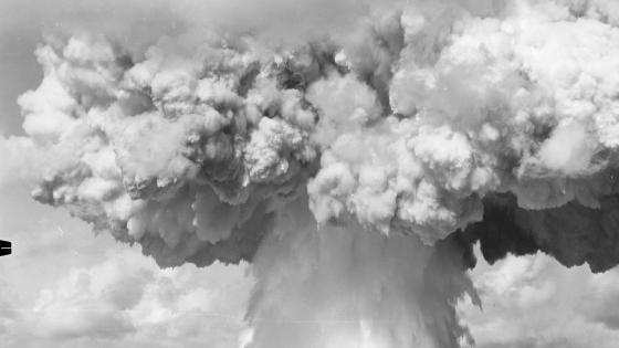 Mushroom Cloud from the Baker Test of Operation Crossroads wallpaper