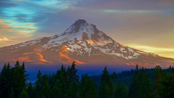 Mount Hood from Parkdale (Oregon) wallpaper