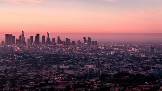Los Angeles Evening Cityscape wallpaper