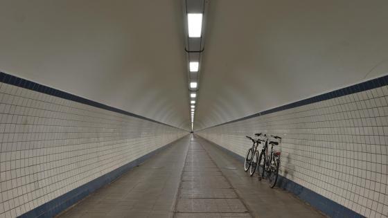 Sint-Annatunnel in Antwerp, Belgium wallpaper