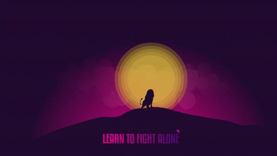 Learn to fight alone wallpaper